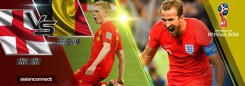 World Cup 2018 England vs Belgium