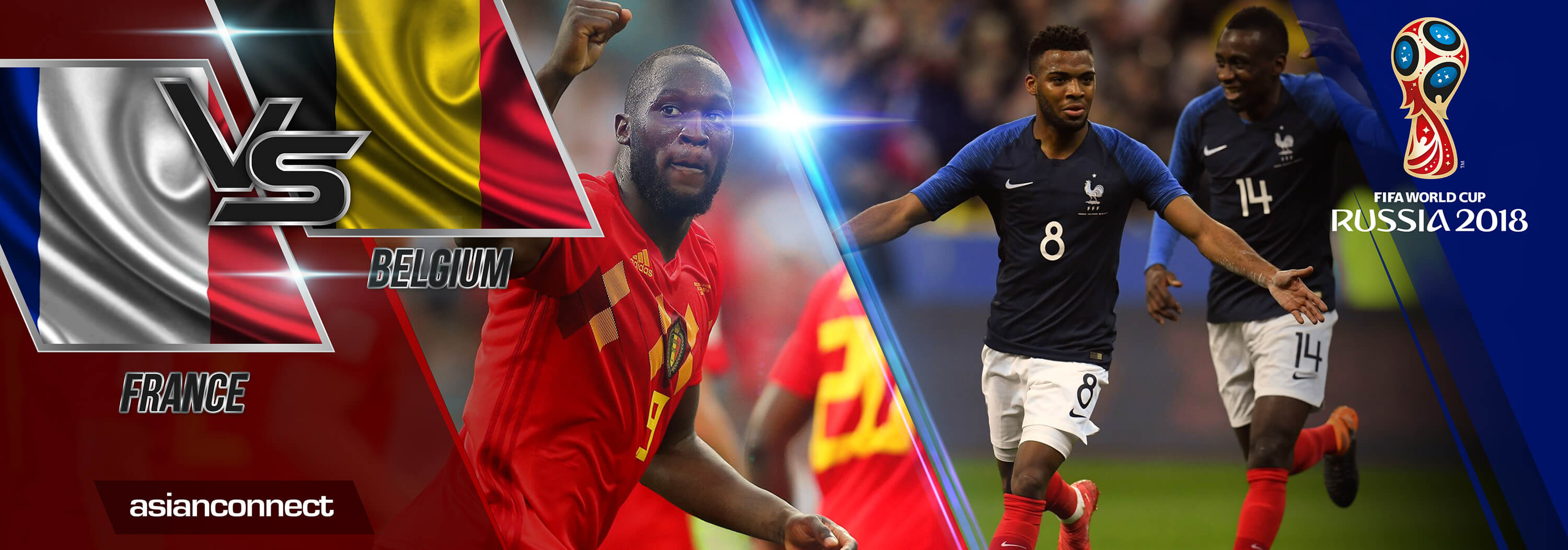 World Cup 2018 France vs Belgium