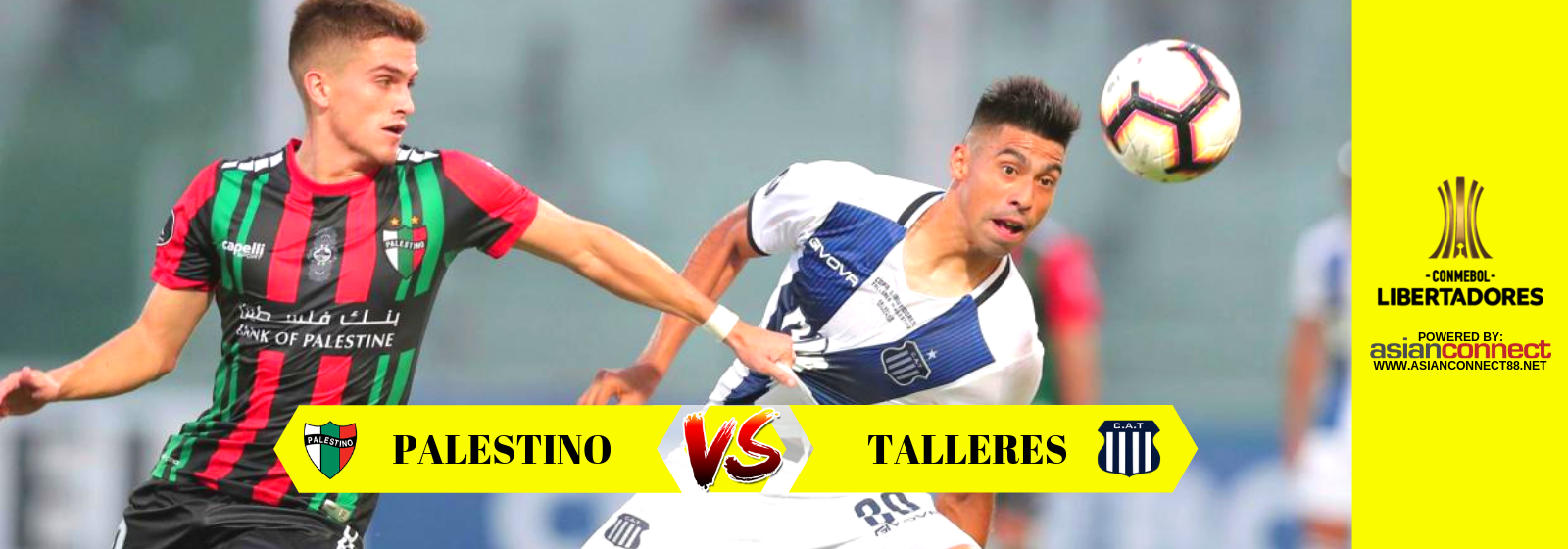Copa Libertadores: Palestino (Chile) vs Talleres (Argentina) Odds for February 27, 2019