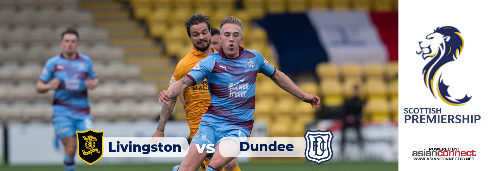 Livingston vs Dundee FC Asianodds