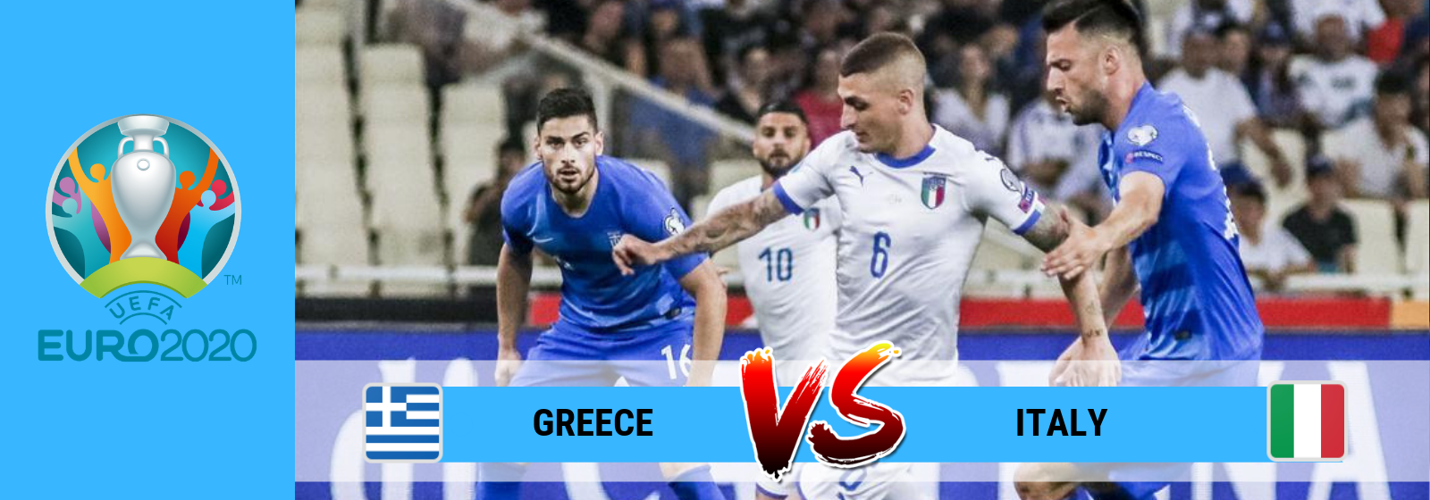 UEFA Euro 2020 Greece Vs. Italy Asian Connect