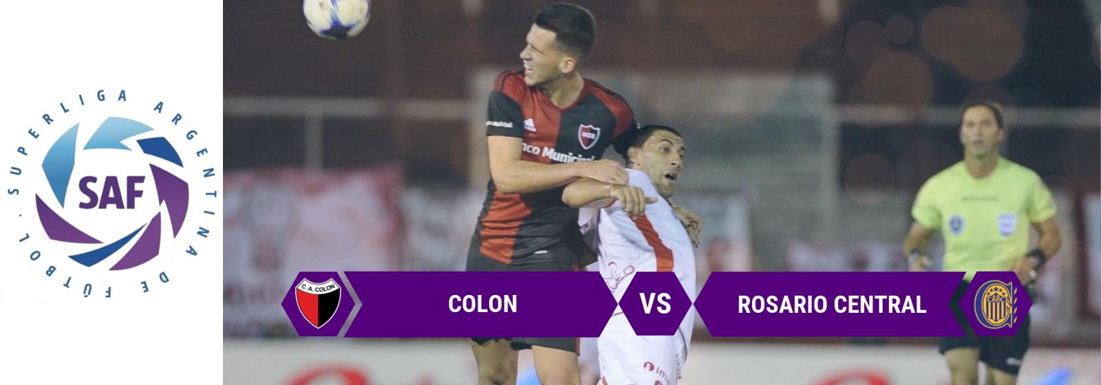 Superliga Argentina Colon Vs. Rosario Central Asian Connect