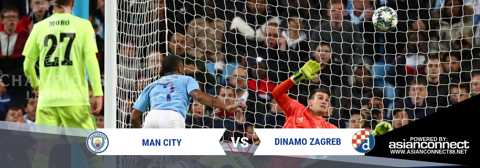 UCL Man City Vs. Dinamo Zagreb Asian Connect