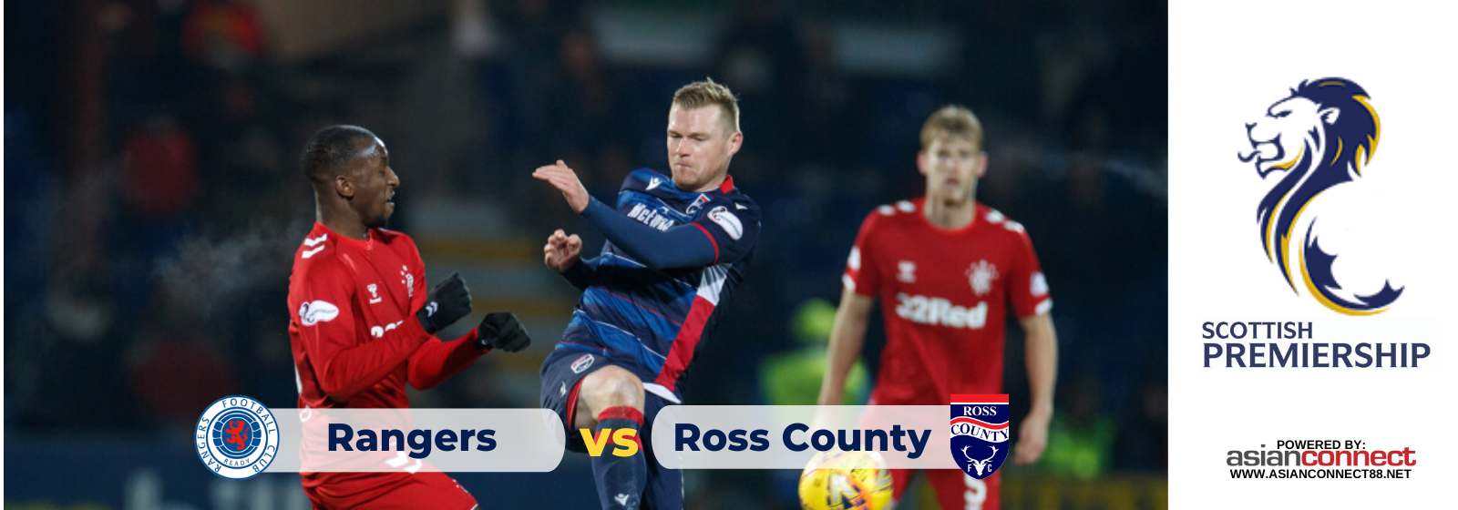 Asianconnect: Rangers vs Ross County Odds for January 29, 2020