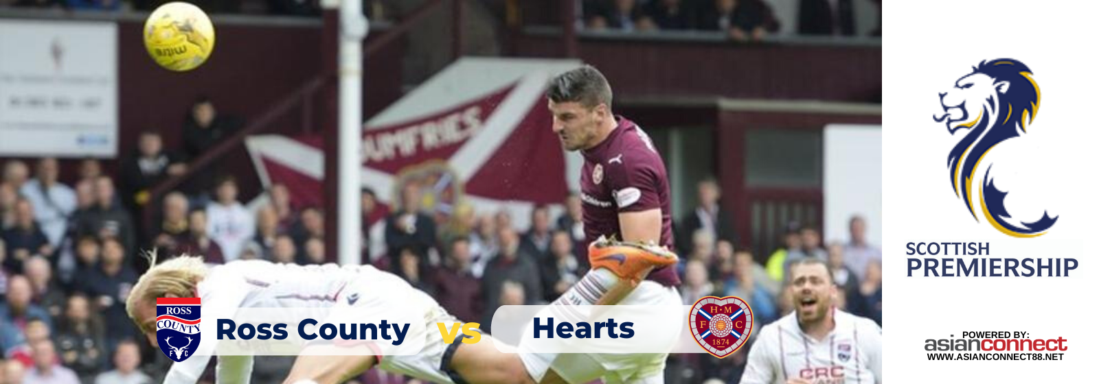 Asianconnect: Ross County vs Heart of Midlothian Odds for January 22, 2020