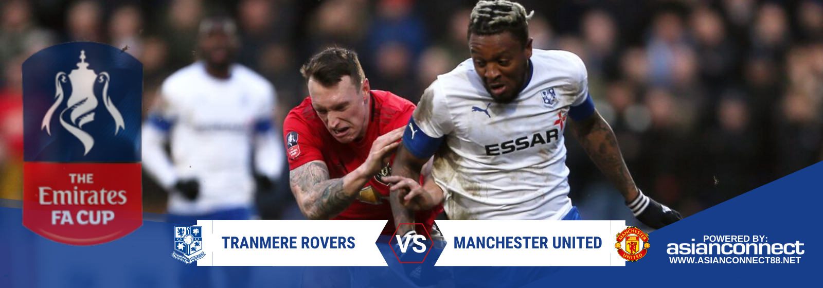 Asianconnect: Tranmere Rovers vs Manchester United Odds for January 26, 2020