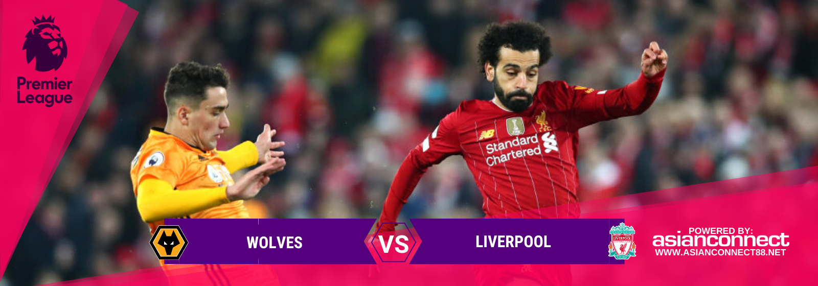 Asianconnect: Wolves vs Liverpool Odds for January 23, 2020
