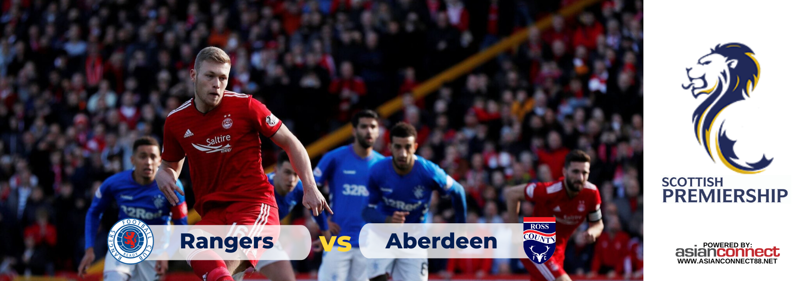 Asianconnect: Glasgow Rangers vs Aberdeen Odds for February 01, 2020
