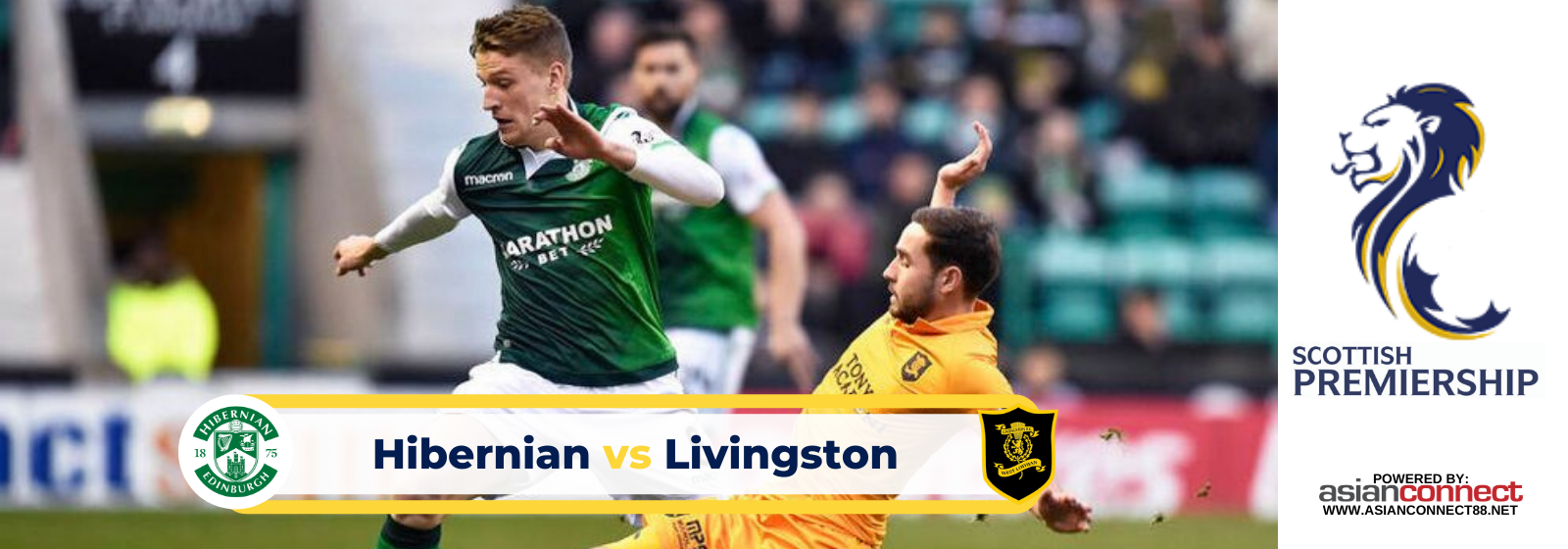 Asianodds: Hibernian vs Livingston Odds for February 22, 2020