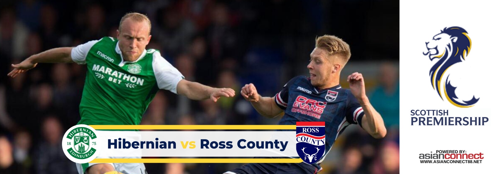 Asianconnect: Hibernian vs Ross County Odds for February 12, 2020