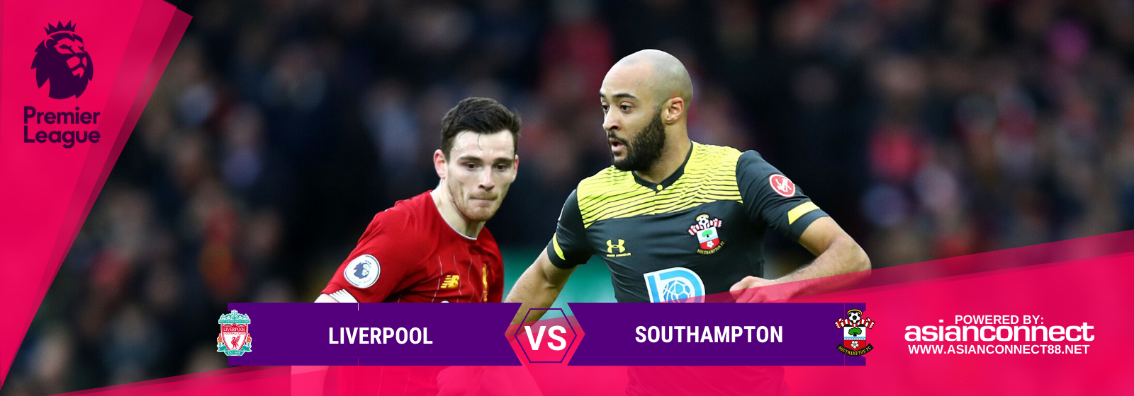 Asianconnect:Liverpool vs Southampton Odds for February 01, 2020