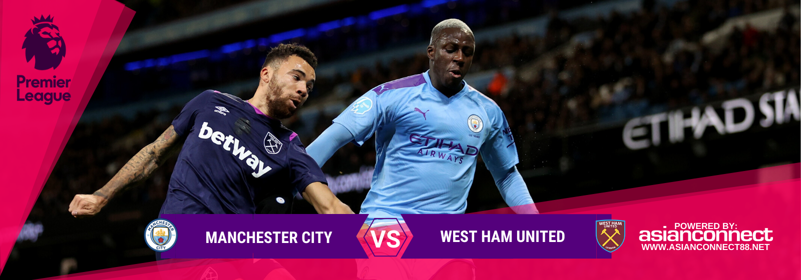 Asianconnect: Manchester City vs West Ham United Odds for February 09, 2020