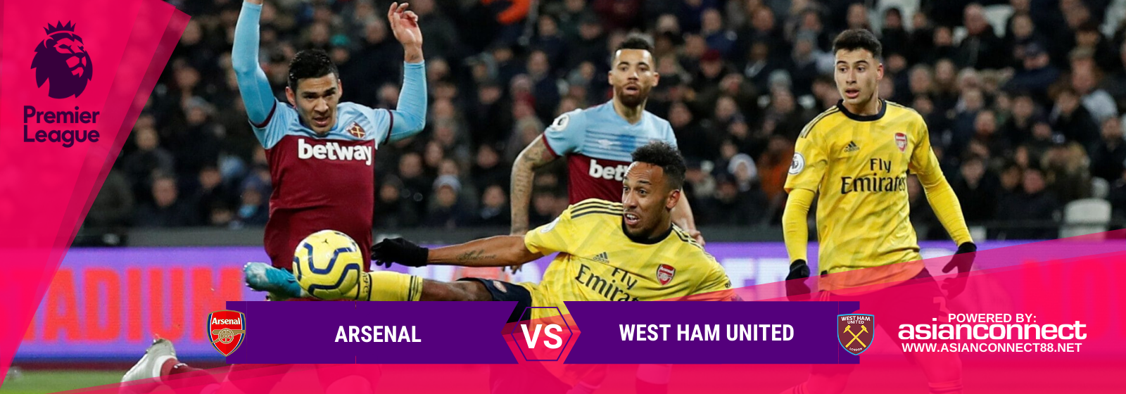 Asianconnect: Arsenal vs West Ham Utd Odds for March 07, 2020