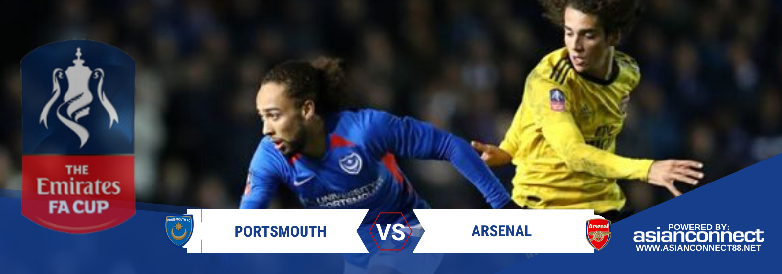 Asianconnect: Portsmouth vs Arsenal Odds for March 02, 2020